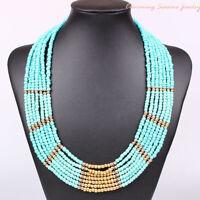 Handmade Bohemian Fashion Multi Beads Weave Chain Necklace