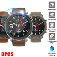 3PCS Film Tempered Glass Screen Protector for AMAZFIT GTR Smart Watch Wrist 47mm
