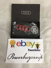 NEW RED Audi Keychain Metal Keyring, Key Chain, Keyfob, W/Gift Box 2 DAY GET