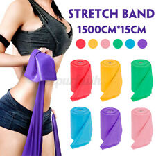 GYM Elastic Exercise Pilates Fitness Stretch Resistance Yoga Workout Bands