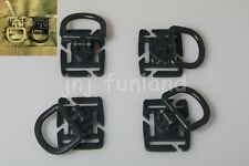 4 Pcs 360° rotation Locking D-Ring Carabiner buckle PALS / MOLLE Style Webbing