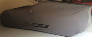 2015-2019 Chevrolet Corvette Z06 OEM Gray and Black Outdoor Car Cover 23187876