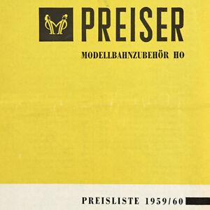 Lot 200804 Preiser 1959/1960 Typenverzeichnis - Preisliste mit Neuheiten