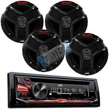 """JVC Stereo CD MP3 AUX Player Radio Receiver w/ 6.5"""" Dual-Cone Car Audio Speakers"""