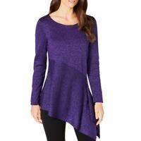 ALFANI NEW Women's Metallic Asymmetrical Scoop Neck Sweater Top TEDO
