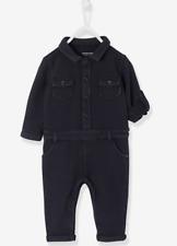 Vertbaudet Baby Sweat Coverall Jumpsuit Black 6-9 Months TD096 CC 13