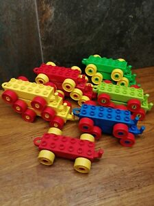 Bundle Lego Duplo Train Rolling Stock x 14 Bases for train or trucks.