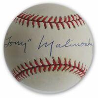 Tony Malinosky Hand Signed Autographed MLB Baseball Brooklyn LA Dodgers W/ COA