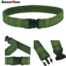 "Tactical 1.5"" 600D Nylon Load Bearing Combat Duty Web Airsoft Belt Olive Drab"