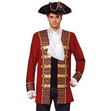 Mens Deluxe Pirate Coat Buccaneer Caribbean Adult Fancy Dress Costume Outfit f4069f556f52