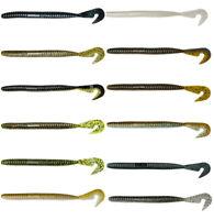 Gambler Burner Worm Soft Plastic Cut Tail Worm 6 or 7 1/2 inch Bass Soft Worm