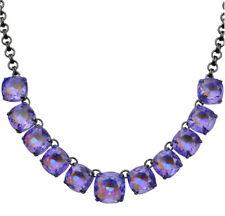 Kirks Folly Mystic Rocks Necklace   hematite / violet