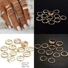 12pcs / set Mode Damen Gold Midi Finger Ring Vintage Punk Boho Knöchel Ringe