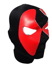 DEADPOOL (pro-LYCRA) Adult Wrestling Halloween Mask Lucha Libre - Black/Red