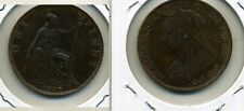 Great Britain 1900 One Penny Coin Au 6732C