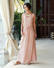 Jersey Glitter Maxi Dress Size UK 14 Pink LF078 GG 04