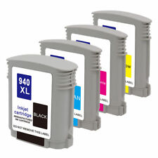 4PK 940XL BLK Color Ink for HP OfficeJet Pro 8500 Printer 8500A Premium