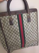 1970s Vintage Gucci Shopper Tote Handbag Purse MAKE AN OFFER