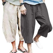 Men Harem Yoga Pants Hippie Gypsy Baggy Cotton Linen Loose Casual Plain Trousers