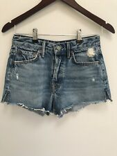 GRLFRND Cindy High-Rise Short in Nobody Does it Better Distressed Cut Offs 25