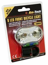 Am-Tech 9 LED Front Bicycle Light Hi-Vis Safe Cycle Cycling UK Seller