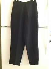 Eileen Fisher Fabulous Linen/Silk Black Pants! Sz. L. EUC!