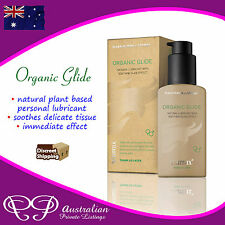 Organic Glide Lubricant with Active Plant Formula helps Soothe delicate tissue