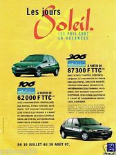 Publicité advertising 1997 Peugeot 106 et 306