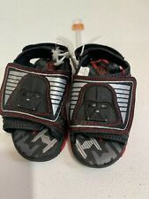New Disney Star Wars Darth Vader Light Up Toddler Sandals Kids Shoe Size 5/6 S