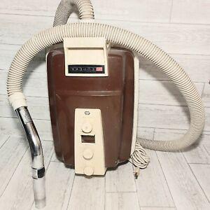 Vintage 1960s Eureka Canister Vacuum Cleaner Brown Metal TESTED Model 3720 w Bag