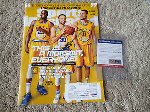 STEPHEN CURRY Signed SPORTS ILLUSTRATED PSA/DNA COA Golden State Warriors NBA SI