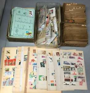 D1957: Old Time Estate Stamp Lot; Boxes, Pages, etc.