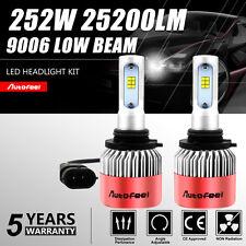 2x 9006 HB4 252W 25200LM CREE LED Headlight Kit Bulbs 6500K White Low Beam Power