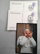 2 x Postcards 1982 Papal Visit SHS First Mass Westminster & Visit Canterbury