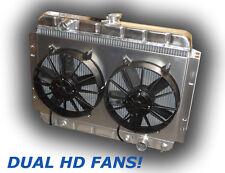 NEW 1966 - 1967 Chevelle Aluminum HD Radiator 3000 CFM FANS - NO 3 ROW GIMMICKS!