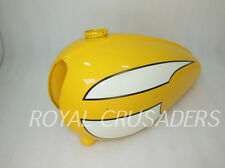 NEW TRIUMPH T120 YELLOW AND WHITE PAINTED  PETROL TANK (REPRODUCTION) @PUMMY