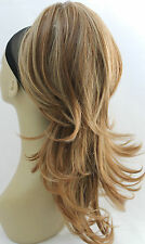 "New 20"" Blonde,Black Synthetic Claw Clip Ponytail Layered Hair Piece-Approx-220g"
