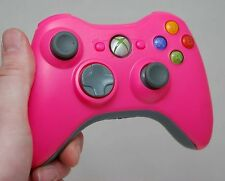 Genuine Microsoft XBox 360 PINK & GRAY Wireless Controller game gaming cordless