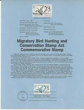 # 2092 MIGRATORY BIRD HUNTING & CONSERVATION 1984 Souvenir Page