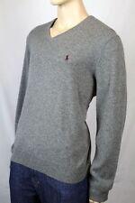Polo Ralph Lauren XX-Large XXL Grey Wool Sweater Burgundy Pony NWT