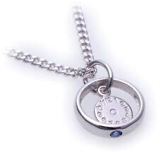 Set Christening Ring Watch & Curb Chain Sapphire 585 14 Karat Weißgold Quality