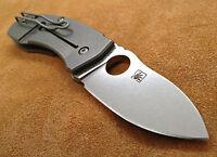Spyderco C158TIP Techno ~  Marcin Slysz Plain Edge Folding Knife CTS-XHP Steel