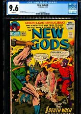 NEW GODS #8 CGC 9.6 Jack Kirby story & art! WHITE PAGES!