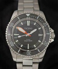 Ticino submariner dive watch seiko nh35 movement steel oyster band