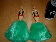 Cheerleading Pom Poms - Islander Dancer Woman Image, Plastic Hand Held, Total #2