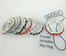 Free 12Pcs Elastic Crystal Toe Ring Mixed Wholesale Lot Body Jewelry Toe ring