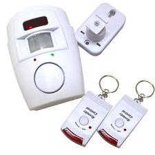 Wireless Sensor De Movimiento Pir Alarma + 2 Controles Remotos Galpón Casa garaje Caravan