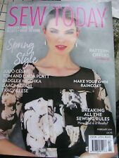 SEW TODAY designer Vogue McCall patterns magazine FEB 2018 VGC