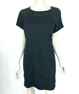 Ruff Hewn Short Sleeve Cotton Tunic Top Pocket Scoop neck Dress Women Large NWT