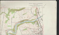 Mount Morris NY Quadrangle 1943 Topographical Map